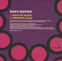 DAVE DAVIES Hold My Hand Vinyl Record 7 Inch BMG 2019